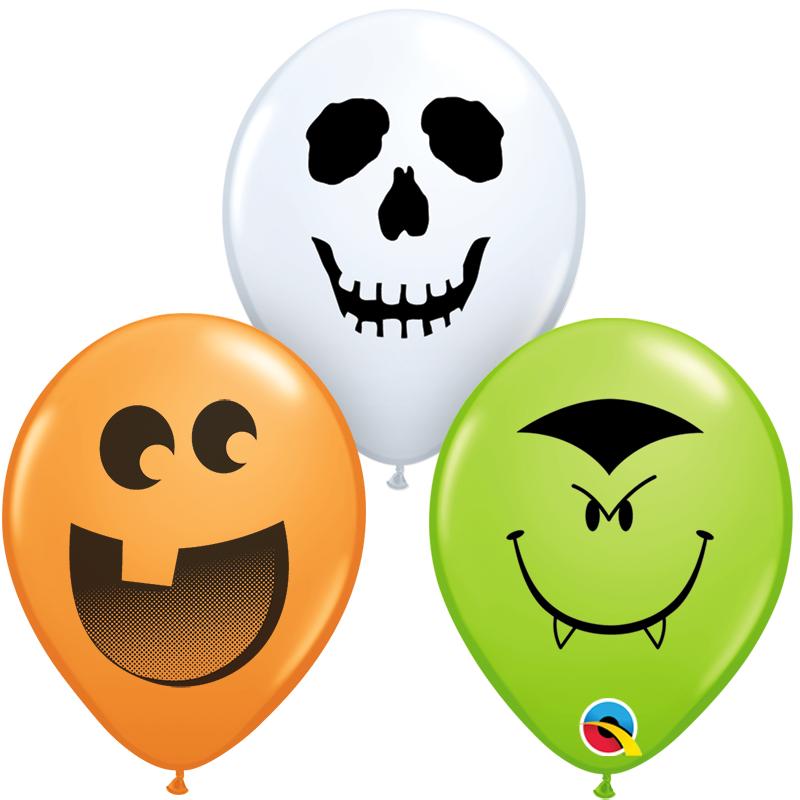5'' Halloween Face Round Latex Balloon