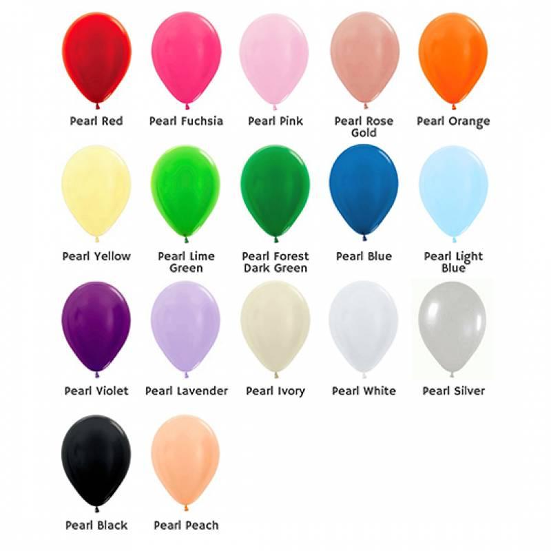 5'' Pearl Colour Round Latex Balloon