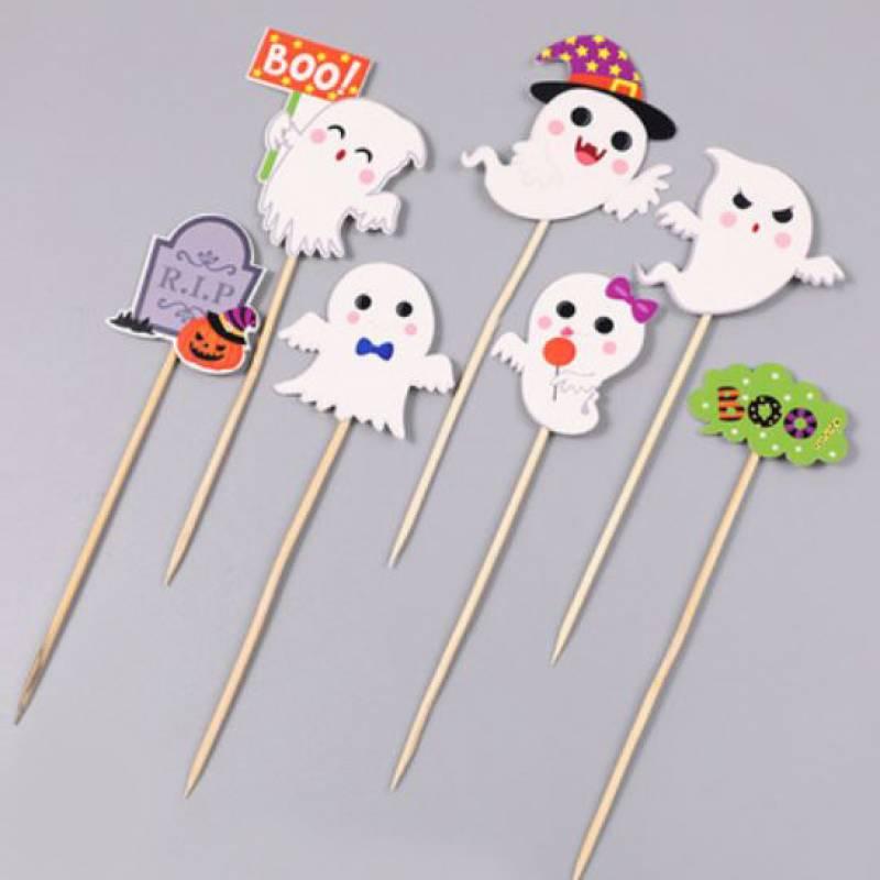 Boo Ghost Friends Cupcake Topper Set