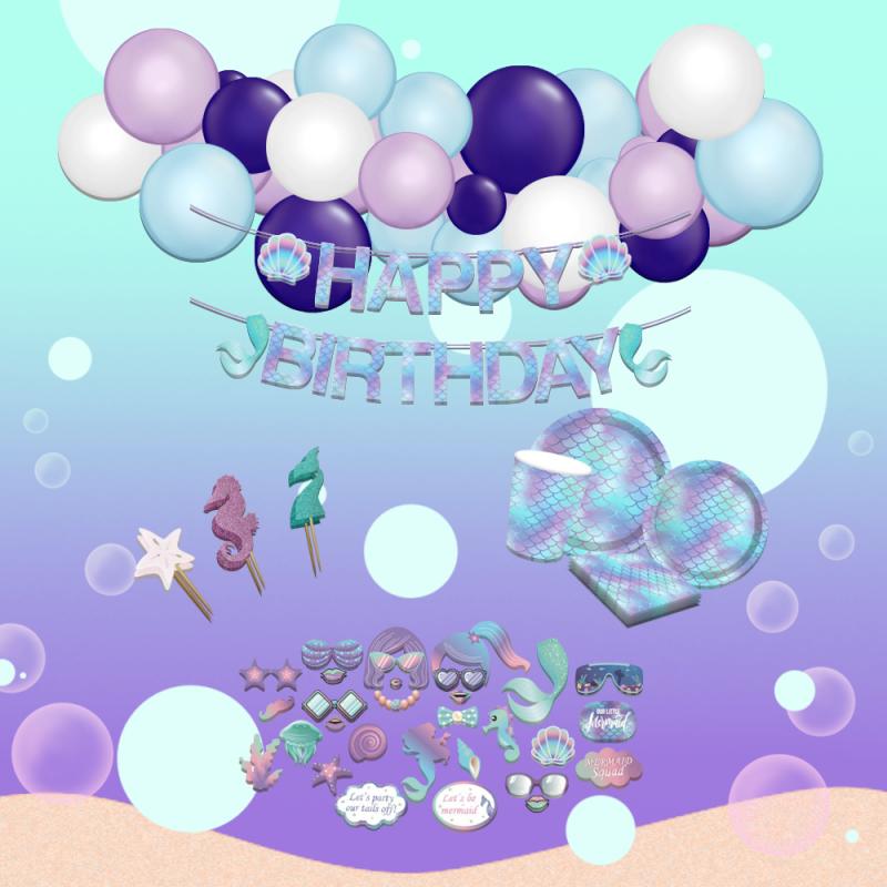 Pastel Mermaid Themed DIY Package